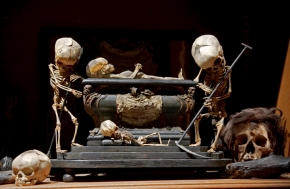 Fetal Skeleton Tableau, 17th Century, University Backroom, Paris