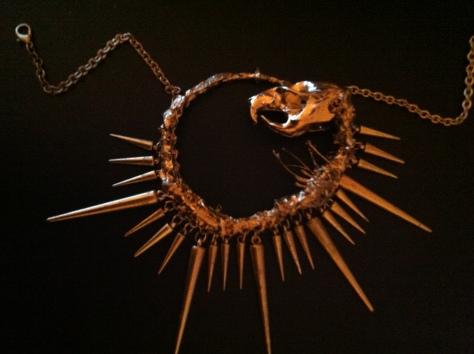 Wearable taxidermy art