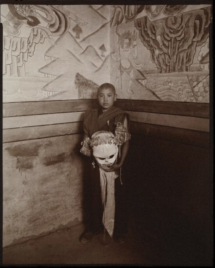 Linda Connor, Young Monk with Death Mask, Ladakh, India, 2003, from Gates of Reconciliation