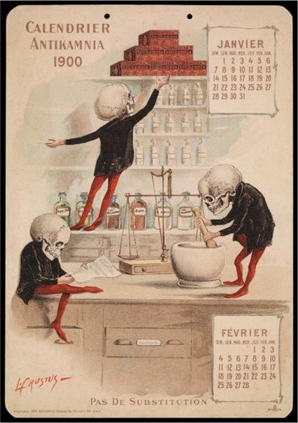 Dr Luis Crucius, Antikamnia Calendars, 1900