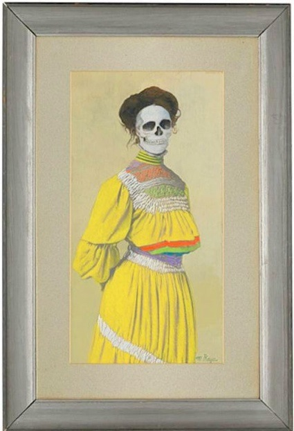 Marcos Raya, Untitled (family portrait: woman in yellow dress), 2005